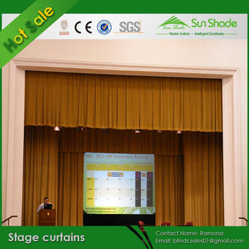 Electric Motorized Auto Motorised Stage Curtains Theatre