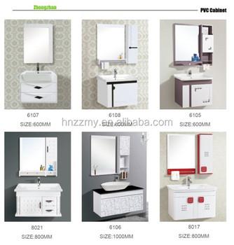 Pvc Bathroom Wash Basin Cabinet