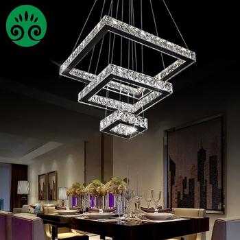 2018 luxury modern led 3 tier square led crystal chandelier pendant 2018 luxury modern led 3 tier square led crystal chandelier pendant light aloadofball Images