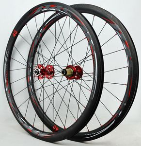700C Road bicycle Disc Brake wheelset,40mm clincher Cycle Cross bike carbon wheel,UD/3K carbon rim gravel wheel 24hole 9mm QR