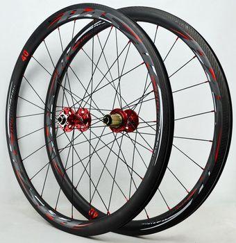700c Disc Wheelset >> 700c Road Bicycle Disc Brake Wheelset 40mm Clincher Cycle Cross Bike Carbon Wheel Ud 3k Carbon Rim Gravel Wheel 24hole 9mm Qr Buy Bicycle Wheelset