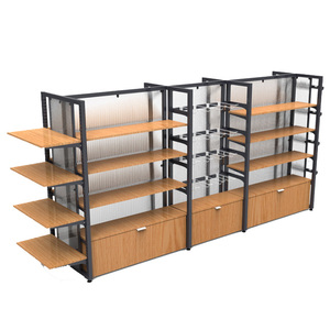 customize metal Miniso shopping mall beauty product double side display rack