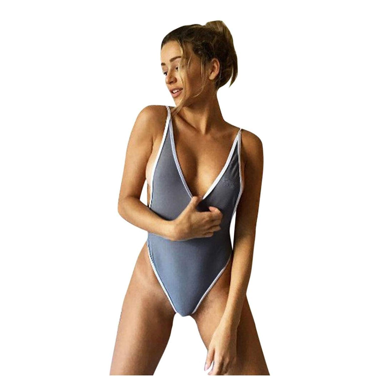 a70eb92c16 Get Quotations · Toponly Swimming suit Women One Piece Bikini,Toponly Women  One Piece Monokini V Neck Swimsuit