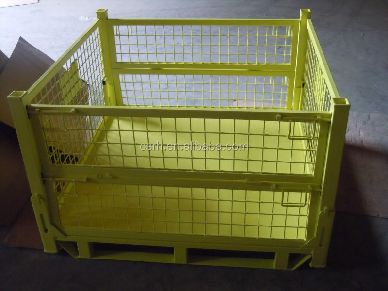 Container Crate Storage Bin Steel Wire Container