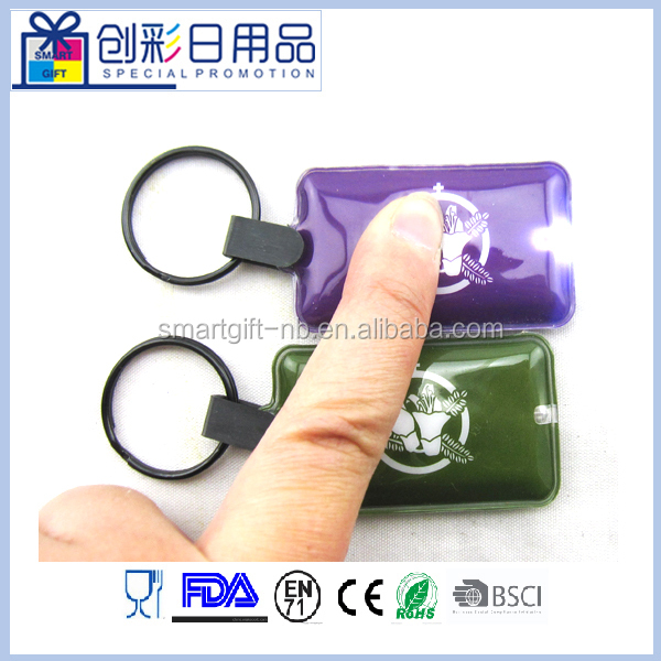 mini promotional led flashlight torch full color printing keychain