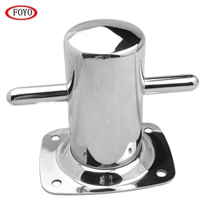 Mirror Polishing Stainless Steel Cross Bollard Cleat for Marine Boat
