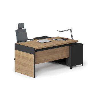 Modern Executive Office Desk Wood Color Ceo Desk L Shape Corner