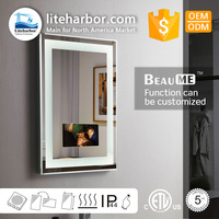 Factory Price Smart Waterproof Bathroom Frameless TV Mirror Factory Directly