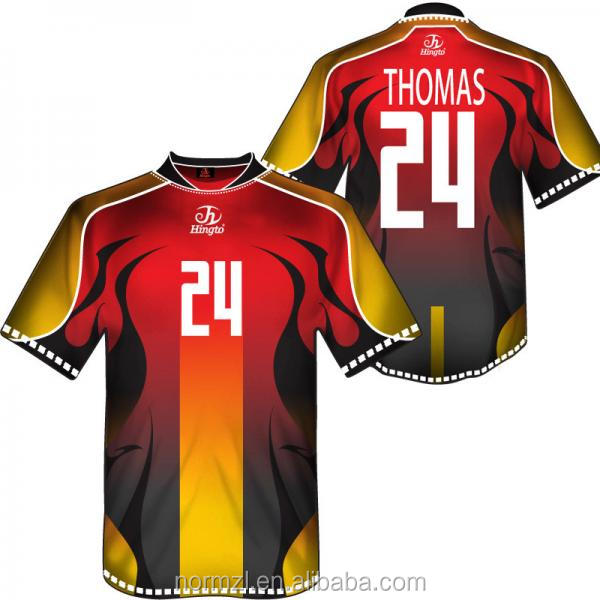 customized dye sublimation soccer wear printed soccer jeresey wholesale