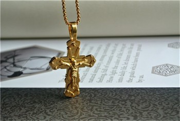 22k gold cross pendant for men hot sale stainless steel cross 22k gold cross pendant for men hot sale stainless steel cross pendant 316l stainless steel jewelry aloadofball Image collections