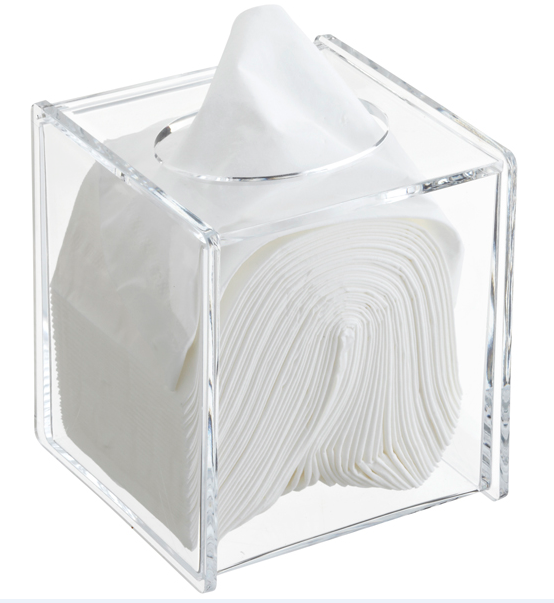 Transparent Fashion Modern Acrylic Tissue Box For Home Bathroom