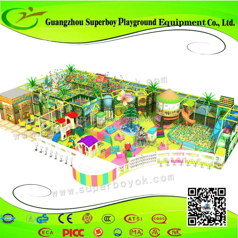 Kids Equipment For Small Business Soft Plastic Indor Playground 152-6i