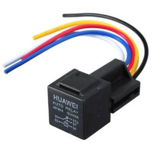 BephaMart Black 12V 30/40 Amp Car Auto Relay With Wiring Harness And Socket Shipped and Sold by BephaMart