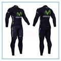 2016 Movistar Pro Team Winter Thermal Fleece Long Clothing Bike Bicycle Long Sleeve Jersey Polyester Cycling