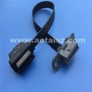S06 J1962 obd ii male to female cable flat for Volvo truck diagnostic tool