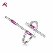 Factory direct turkish ruby cz wedding ring