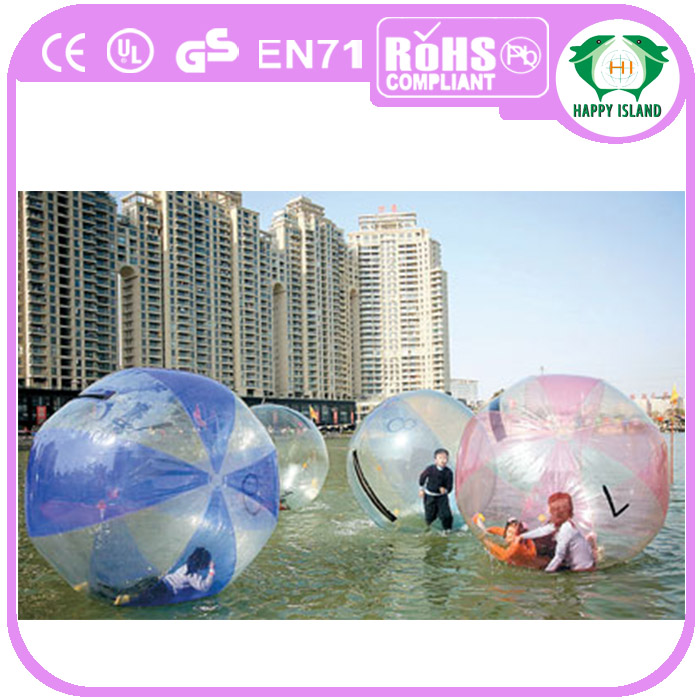HI 2m DIA 1.0mm Inflatable Water Ball Water Walking Ball For Rental