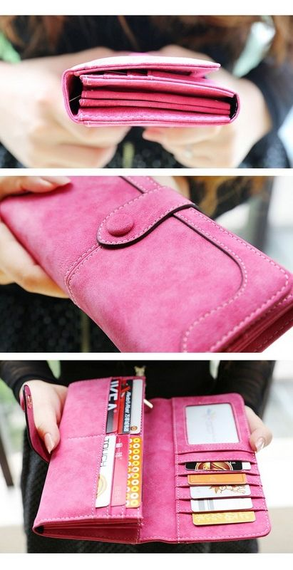 Fashion Retro Matte Stitching Wallet Women Long Purse Clutch Women Casual Hasp Dollar Price Wallet Handbag