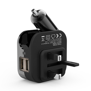 Multifunction car & wall 2 in 1 charger 2.1A dual usb port with US/EU/UK/AU plug available for mobile phone