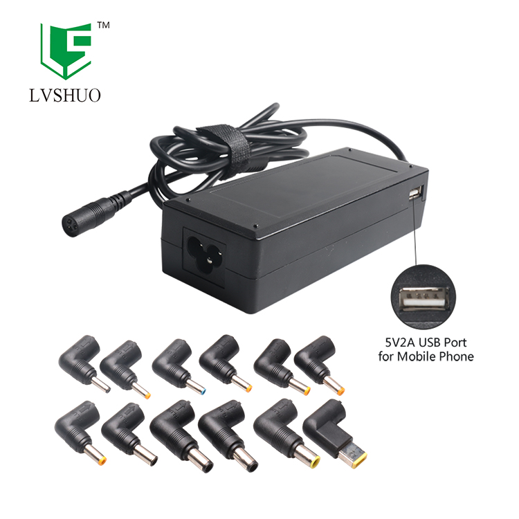 90W Laptop Charger Universal Power Adapter OEM Laptop AC Adapter with 5V 2A USB Port for Mobile Phone