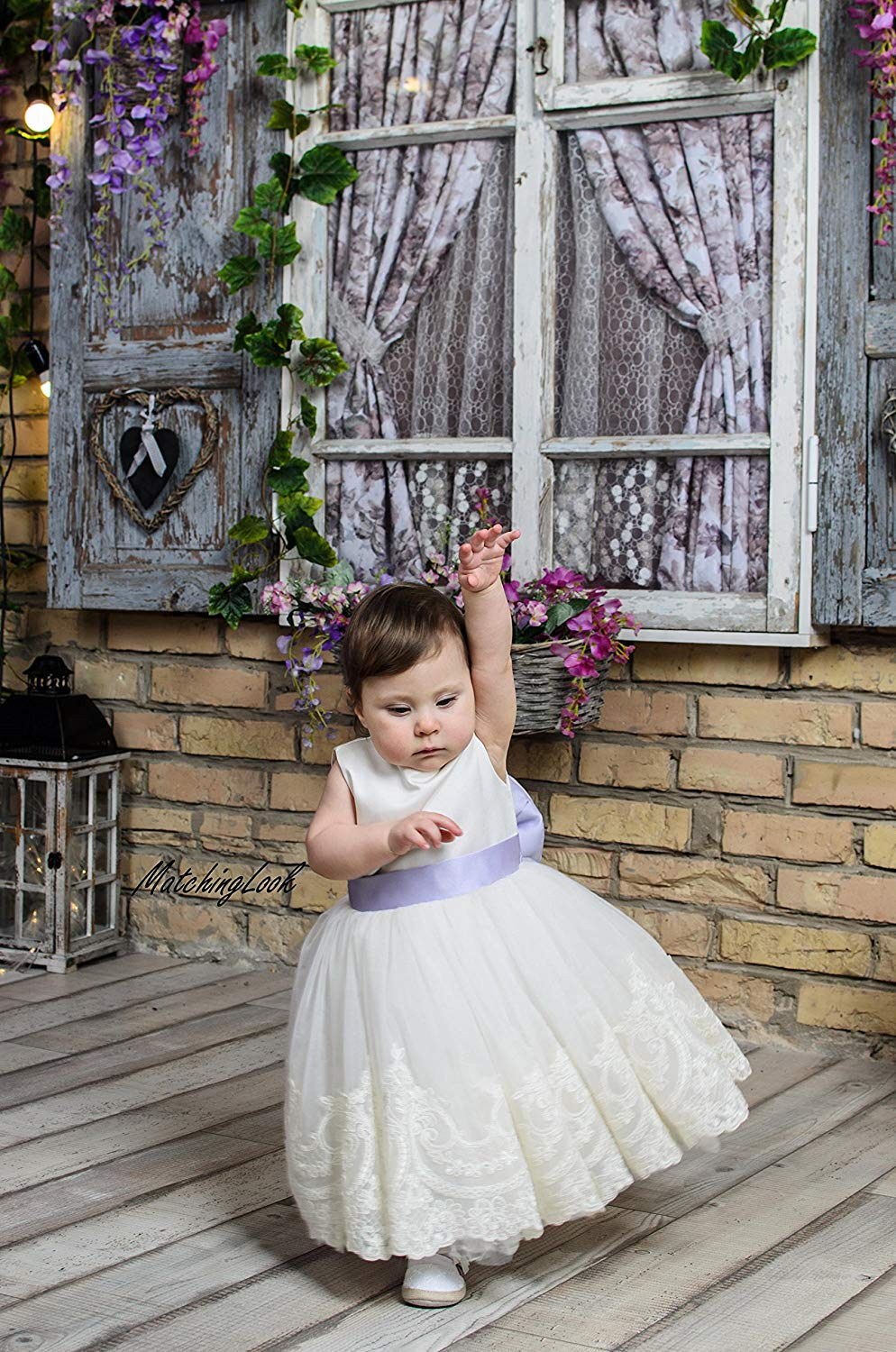 809405b1e Get Quotations · Ivory Birthday dress, Girl Lace 1st Birthday Dress, First  Birthday Dress Baby girl,