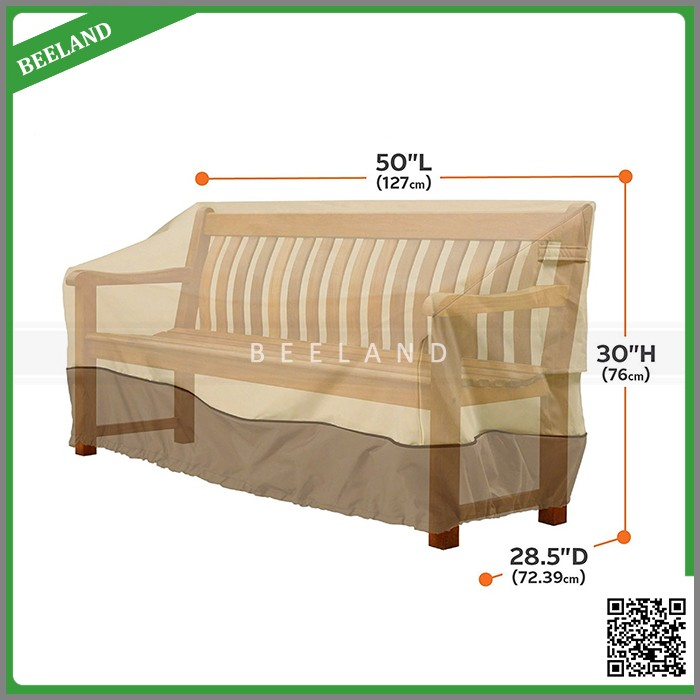 manufacturer High quality cheap waterproof veranda sofa cover outdoor furniture bench cover