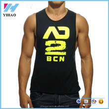 2016 Cheap Fashion Brand Men's 100% Cotton O-Neck Tank Tops qym shark