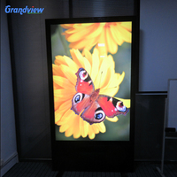 Customized shape Poster frame stand led advertising digital advertising board