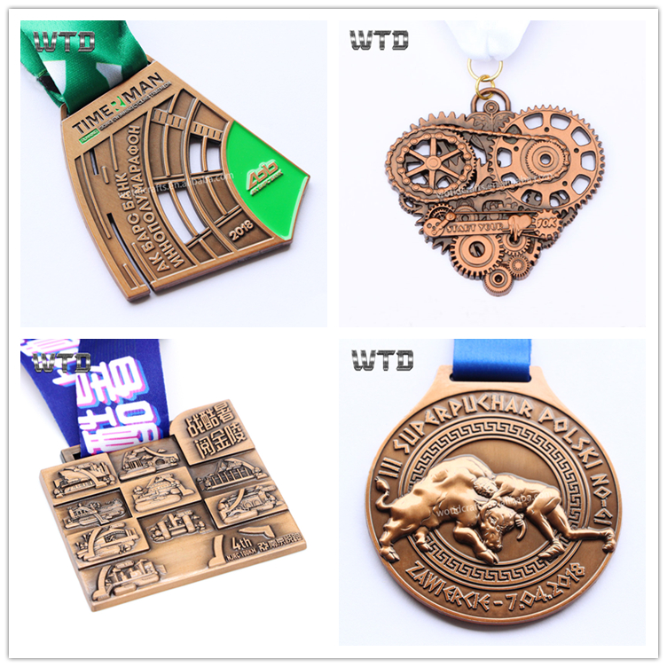 hot sell high quality sport metal marathon cartoon medals and trophies cup china sport