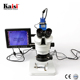 Kaisi 7X-45X Digital Zoom Repair Mobile Phone PCB Inspection Stereo Trinocular Microscope With Camera