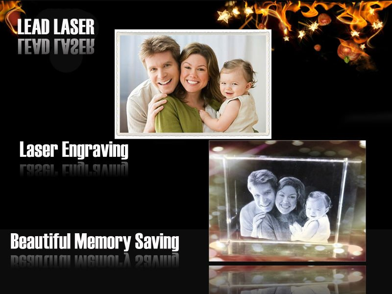 Novel Wedding Gifts: Novel 3d Laser Engraved Crystal Wedding Gifts Or
