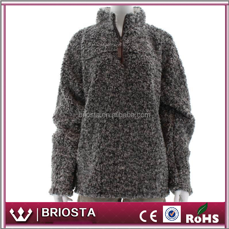 Wholesale Hot Sale Fleece Fuzzy Grit Pullover - Buy Grit Pullover ...