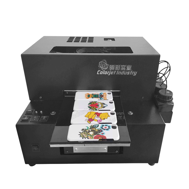 CJ A3 uv flatbed printer high quality for cellphone case pen bottle