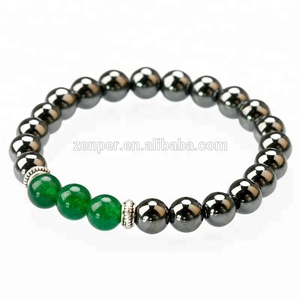 Obsidian health care expandable magnetic jewelry bracelet /Green aventurine beads round bracelet