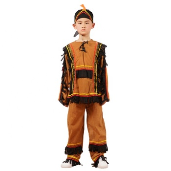 Boys native American indian costume kids halloween cosplay unique carnival costume