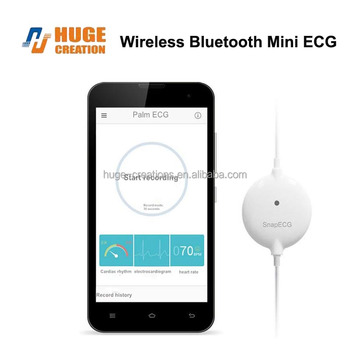Ecg Bluetooth Mini Sanpecg Device Wireless Bluetooth 4 0 Free Fownload App  For Android & Ios System Heart Rate Monitor - Buy Bluetooth Ecg,Snap