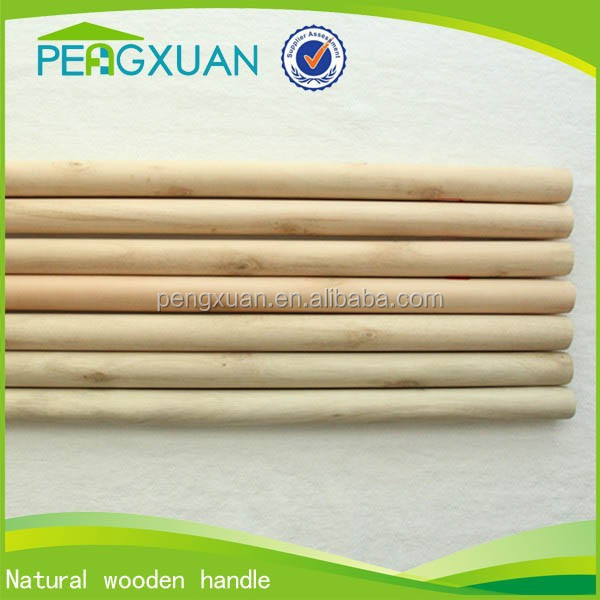 round natural thick wooden broom stick handle for broom making supplies