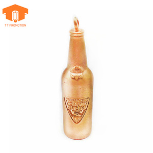 3d beer bottle blank metal keychains mini bottle keychain