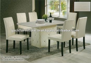 Dining Set Round Marble Top DiningTable Room Sets