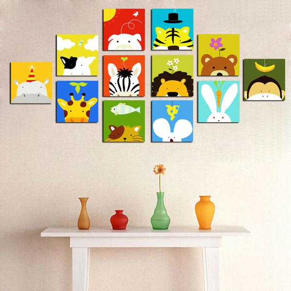 Cuadros de la historieta imprimir en canvas para habitaci n de los ni os pintura y caligraf a - Cuadros de habitacion ...