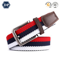 DP-3522C Outdoor Braided Elastic Fabric stretch woven belts for men