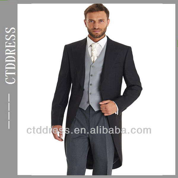 One On Balck Stripe Notch Lapel Mens Wedding Tail Coat Men Suits Custom Made Bespoke Design Product