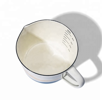 Wholesale customized 500ml enamel Measuring cup