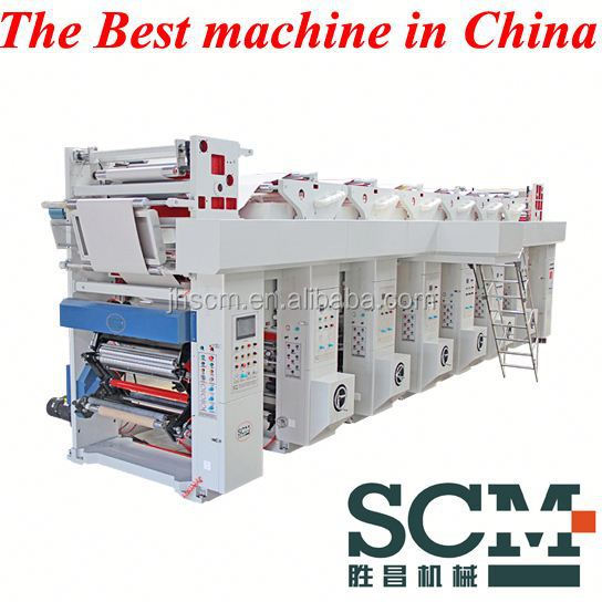 PVC Shrink Film Label Gravure Printing Machine