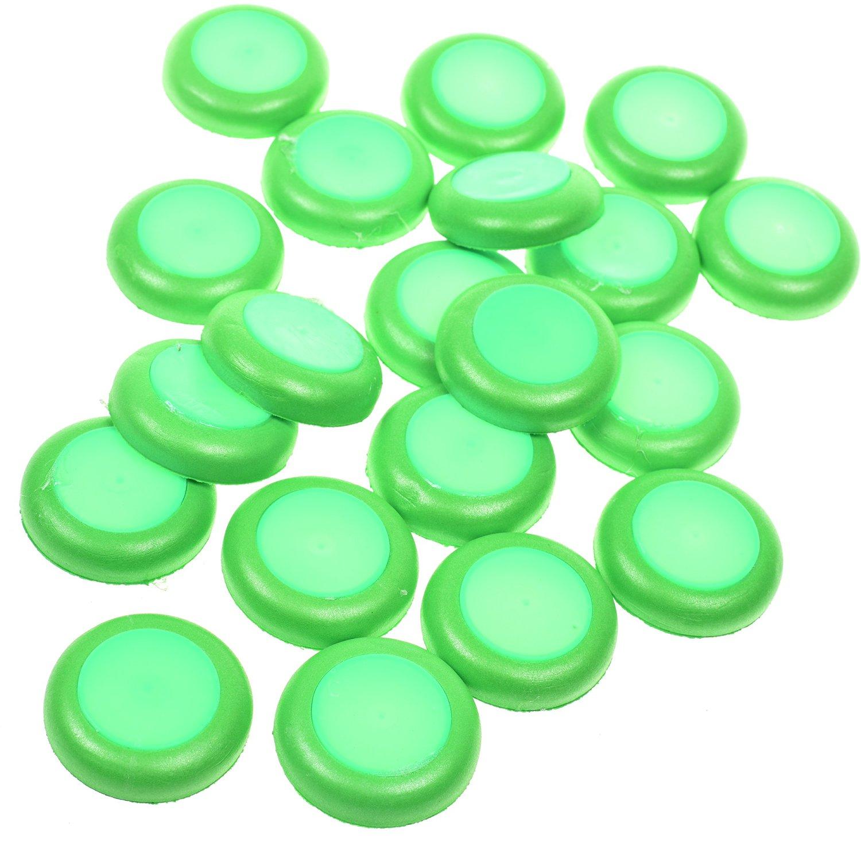 BCP 20 Pieces Green Soft Foam Nerf Vortex Disc Bullet Refill