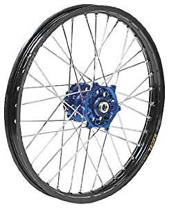 QTM/Brembo Offroad/ATV Complete Rear Wheel - Dark Blue Talon Hub/Black DID Dirtstar Rim - 2.15x19 , Position: Rear, Color: Blue, Rim Size: 19 56-4119DB