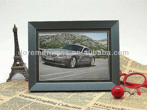 promotional stainless steel car shape photo frame