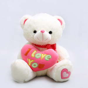 Wholesale stuffed bears animal valentine plush toys heart for girlfriend