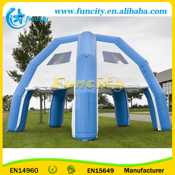 Outdoor portable 6 legs advertising inflatable spider tent/inflatable spider dome tent for event