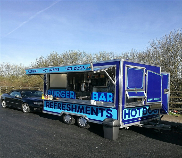 Customized snack machines custom food trailers for sale